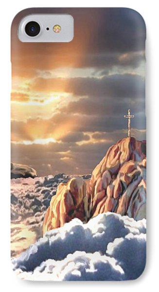 Sunrise At Calvary IPhone Case by Ron Chambers