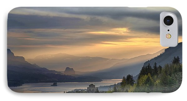 Sunrise At Columbia River Gorge Phone Case by David Gn