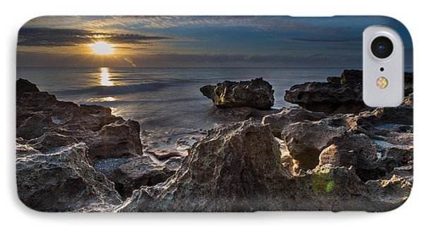 Sunrise At Coral Cove Park In Jupiter IPhone Case by Andres Leon