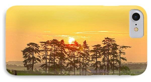 Sunrise At Danebury Hillfort IPhone Case by Andrew Middleton