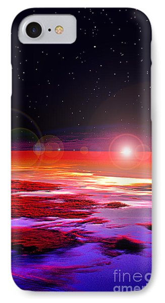 Sunrise At Fourty Thousand  IPhone Case by Adam Olsen