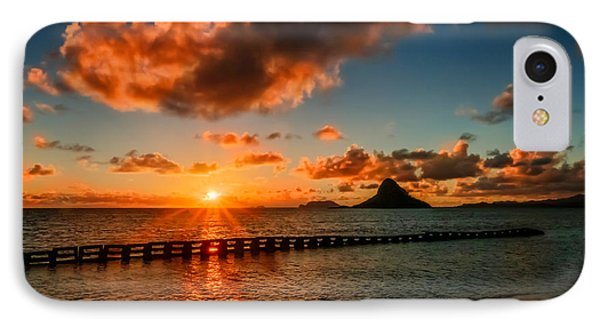 Sunrise At Hawaii Chainaman's Hat IPhone Case by RC Pics