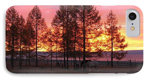 Sunrise At Lake Khuvsgul IPhone Case