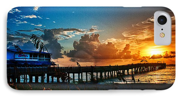 IPhone Case featuring the photograph Sunrise At Lake Worth Pier by Don Durfee