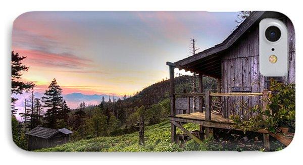 Sunrise At Mt Leconte Phone Case by Debra and Dave Vanderlaan
