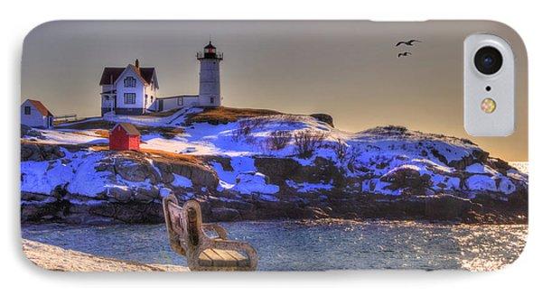 Sunrise At Nubble Lighthouse - Cape Neddick - York Maine IPhone Case