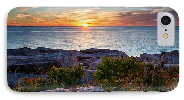 Sunrise At Otter Cliffs IPhone Case by Darylann Leonard Photography