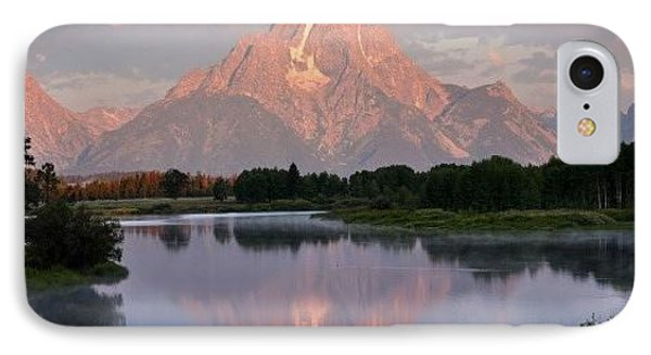 Sunrise At Oxbow Bend 1 Phone Case by Marty Koch