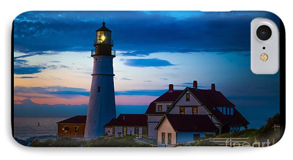 Sunrise At Portland Head Lighthouse IPhone Case by Diane Diederich