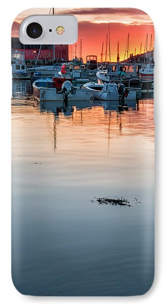 Sunrise At Rockport Harbor - Cape Ann Phone Case by Thomas Schoeller