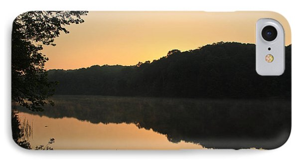 Sunrise At Rose Lake IPhone Case by Julie Andel