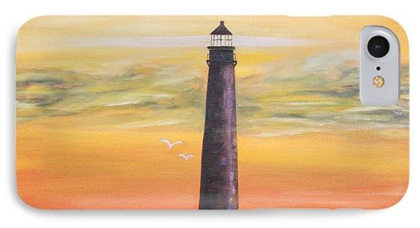 Sunrise At Sand Island Lighthouse IPhone Case