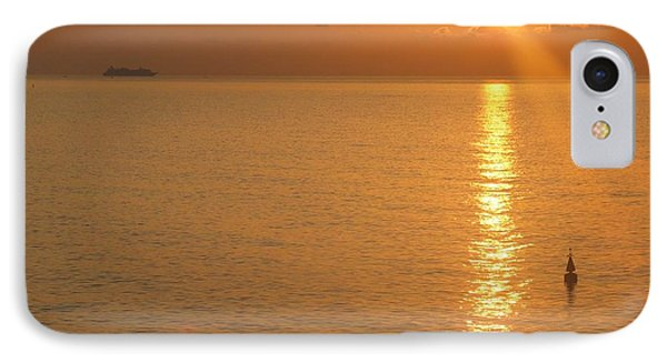 IPhone Case featuring the photograph Sunrise At Sea by Photographic Arts And Design Studio