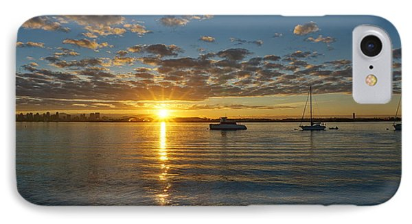 IPhone Case featuring the photograph Sunrise At Shelter Island by Jeremy McKay