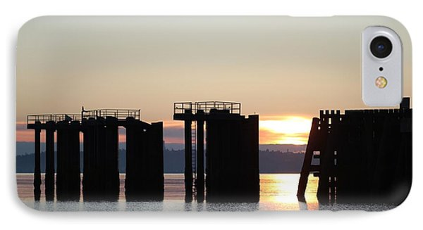 IPhone Case featuring the photograph Southworth Ferry Pilling At Dawn by E Faithe Lester