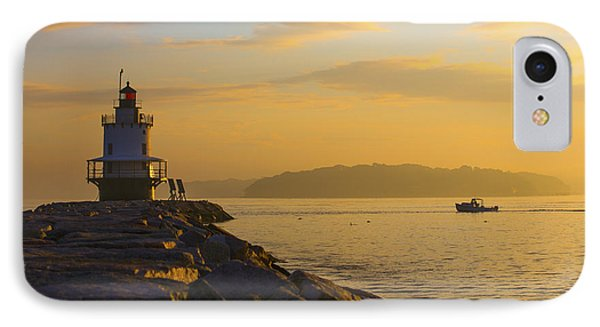Sunrise At Spring Point Portland Maine IPhone Case by Diane Diederich