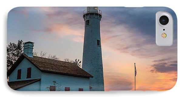 IPhone Case featuring the photograph Sunrise At Sturgeon Point by Patrick Shupert