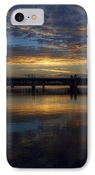 Sunrise At Tempe Town Lake Phone Case by Elaine Snyder