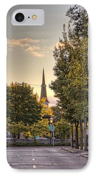 IPhone Case featuring the photograph Sunrise At The End Of The Street by Daniel Sheldon