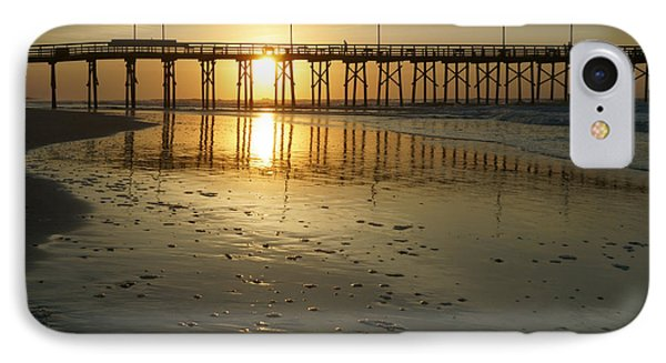 Sunrise At The Jolly Roger Pier IPhone Case by Mike McGlothlen