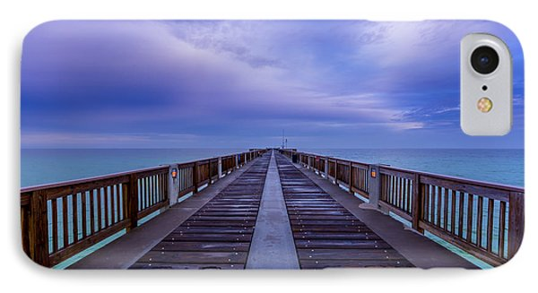 Sunrise At The Panama City Beach Pier IPhone Case by David Morefield