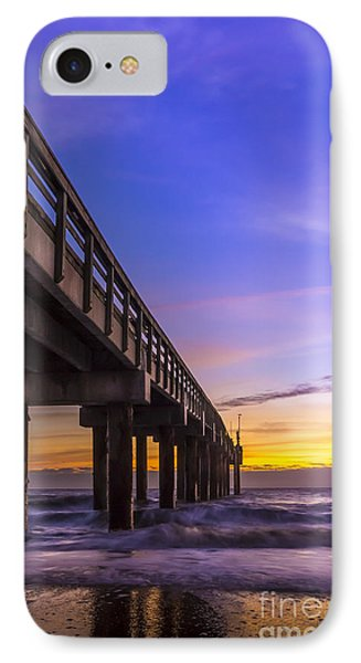 Sunrise At The Pier IPhone Case by Marvin Spates