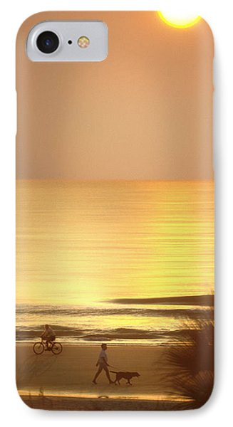 Sunrise At Topsail Island Panoramic IPhone Case