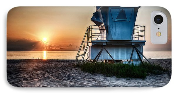 Sunrise At Vero Beach Hdr 3 IPhone Case by Michael White
