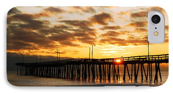 Sunrise At Virginia Beach IPhone Case by James Kirkikis