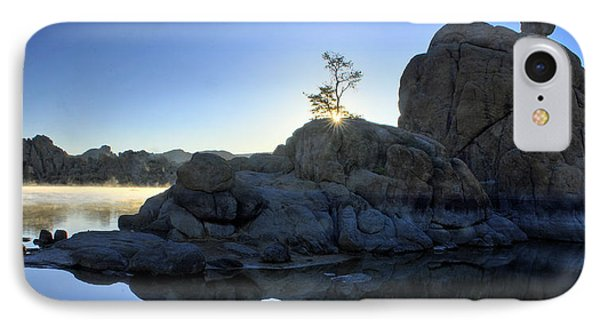 IPhone Case featuring the photograph Sunrise At Watson Lake by Dan Myers