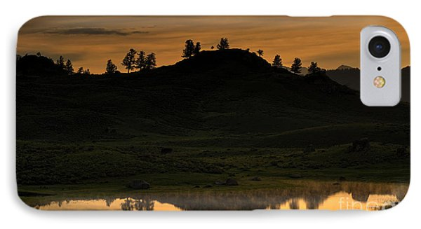 IPhone Case featuring the photograph Sunrise Behind A Yellowstone Ridge by Bill Gabbert