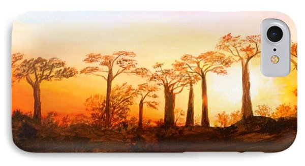 Sunrise Boab Trees IPhone Case