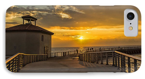 IPhone Case featuring the photograph Sunrise Boynton Beach Jetty by Don Durfee