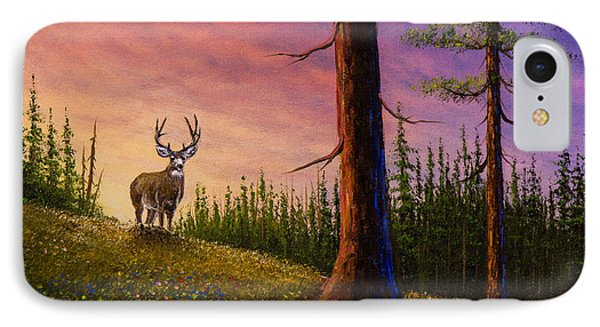 Sunrise Buck Phone Case by C Steele