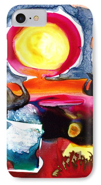 IPhone Case featuring the painting Sunrise by Catherine Redmayne
