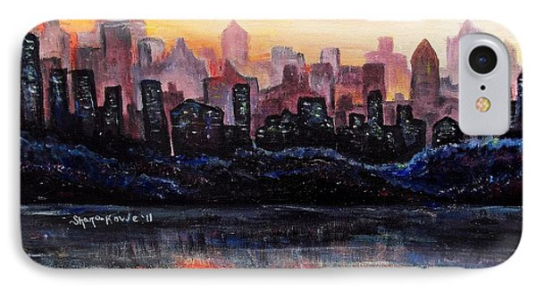 IPhone Case featuring the painting Sunrise City by Shana Rowe Jackson