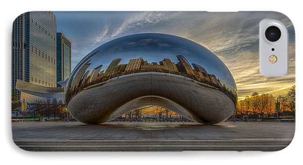 Sunrise Cloud Gate IPhone Case by Sebastian Musial