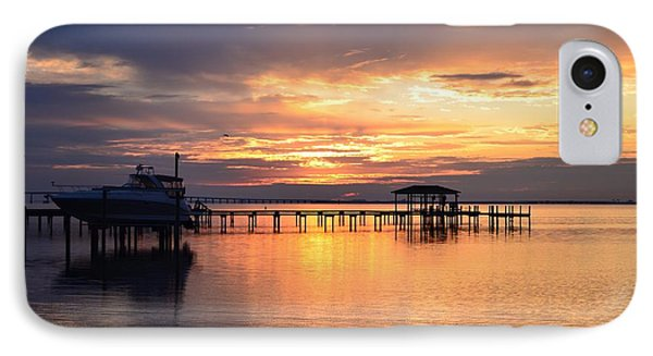 IPhone Case featuring the photograph Sunrise Colors On The Sound by Jeff at JSJ Photography