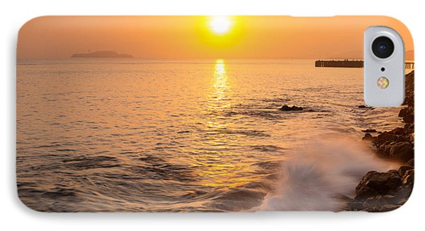 Sunrise Colors - San Francisco Bay IPhone Case by David Yu