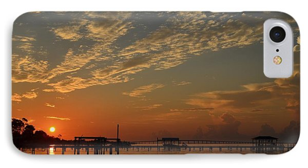 Sunrise Colors With Storms Building On Sound IPhone Case by Jeff at JSJ Photography