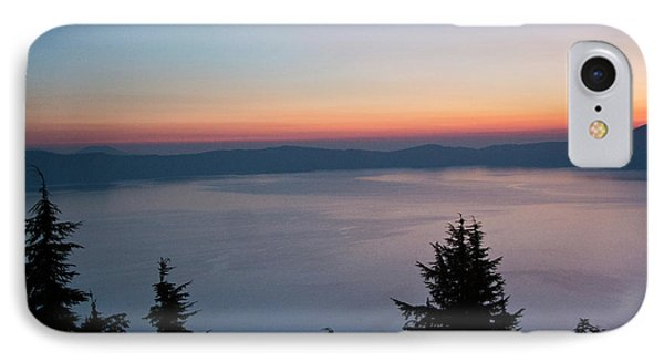 Sunrise, Crater Lake National Park IPhone Case by Michel Hersen