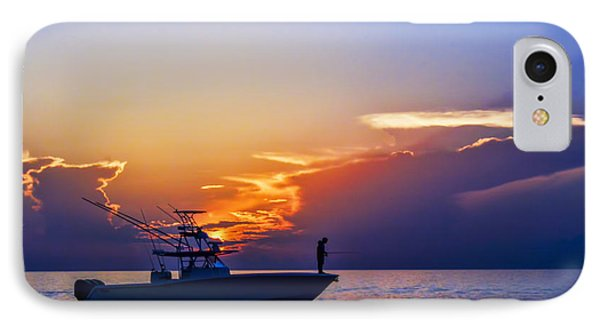 Sunrise Fishing IPhone Case by Don Durfee