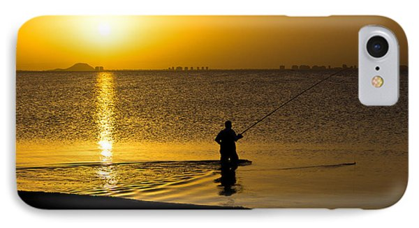 Sunrise Fishing IPhone Case by Scott Carruthers