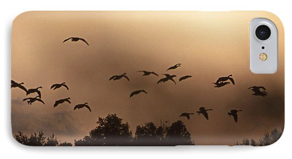 Sunrise Fog And Incoming Phone Case by Skip Willits