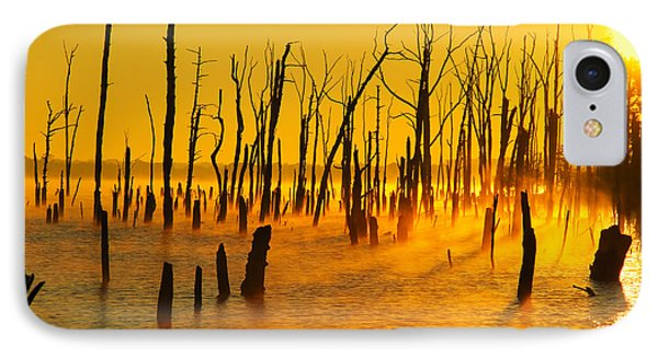 Sunrise Fog Shadows IPhone Case by Roger Becker