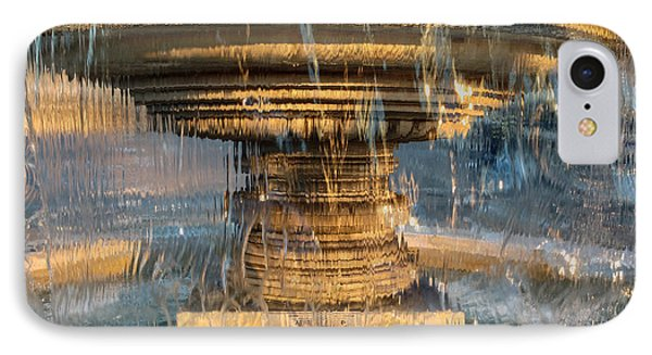 IPhone Case featuring the photograph Sunrise Fountain by Glenn DiPaola