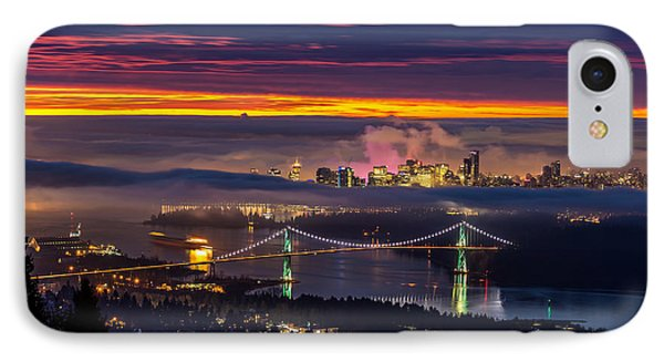 Sunrise From West Vancouver IPhone Case by Pierre Leclerc Photography