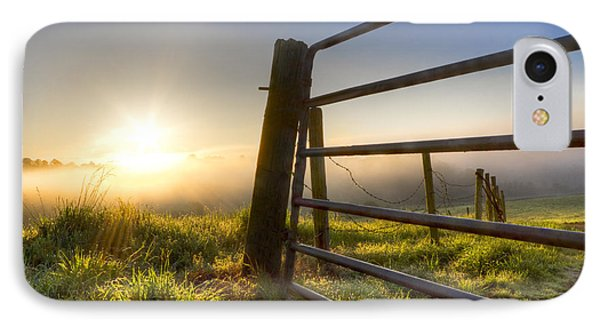 Sunrise  Gate IPhone Case by Debra and Dave Vanderlaan