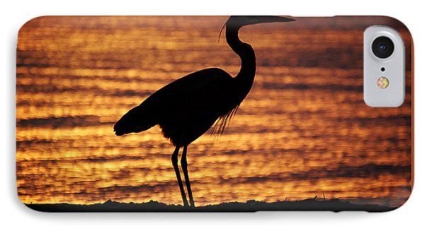 IPhone Case featuring the photograph Sunrise Heron by Leticia Latocki