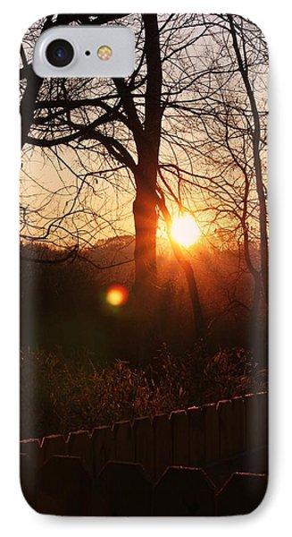 Sunrise In Hocking Hills IPhone Case by Haren Images- Kriss Haren